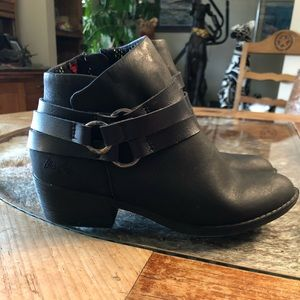 Blowfish Black faux leather ankle booties